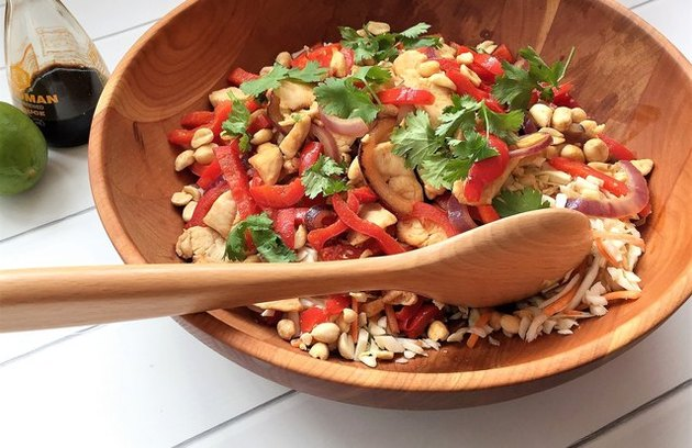 Asian Chicken Stir Fry Salad