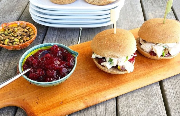 Cranberry Chicken Salad Sliders