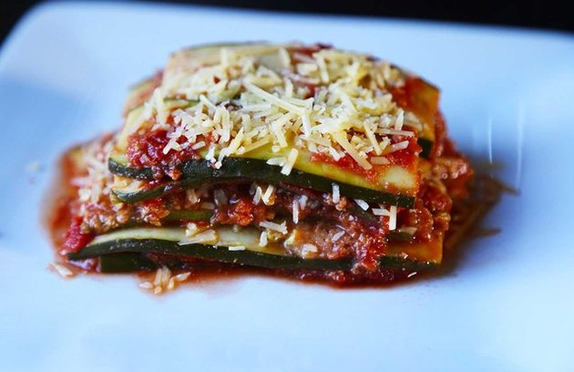 Slow Cooker Vegetable Pasta Lasagna healthy crockpot recipes