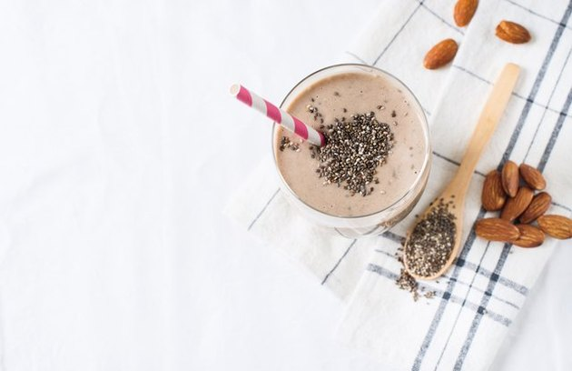 protein shake recipes Chia Almond Date Smoothie