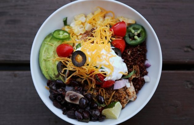 "high fiber lunches Quinoa ""Taco"" Bowl"