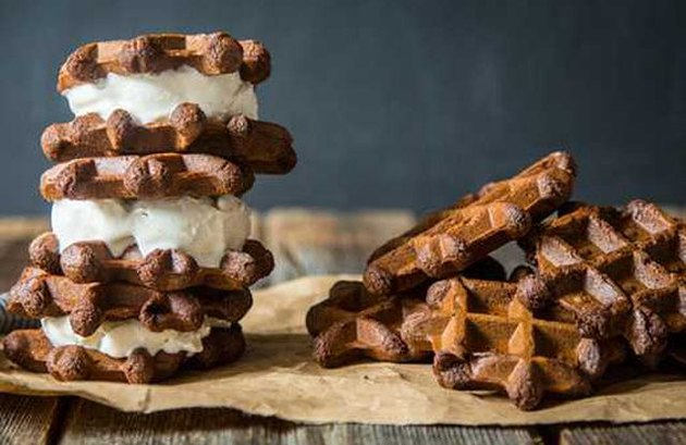 Gluten-Free Ice Cream Protein Sandwiches
