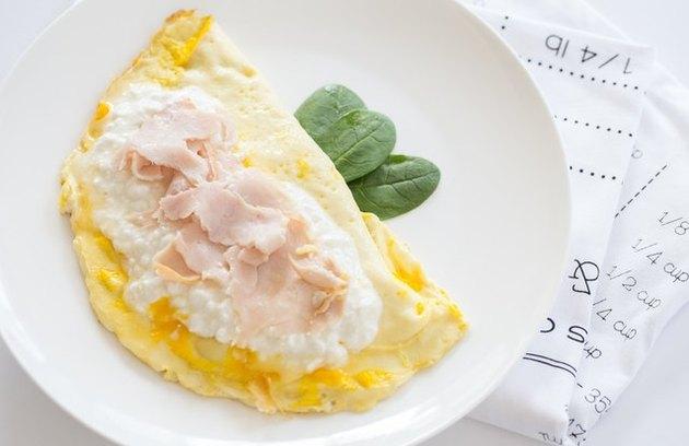 turkey and cheese scramble - protein breakfast
