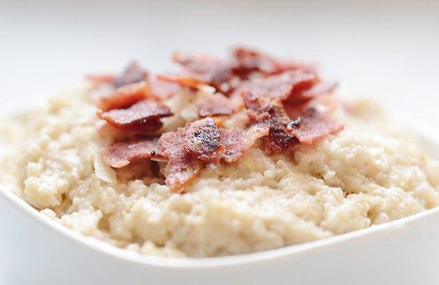 Savory Protein Oats - protein breakfast