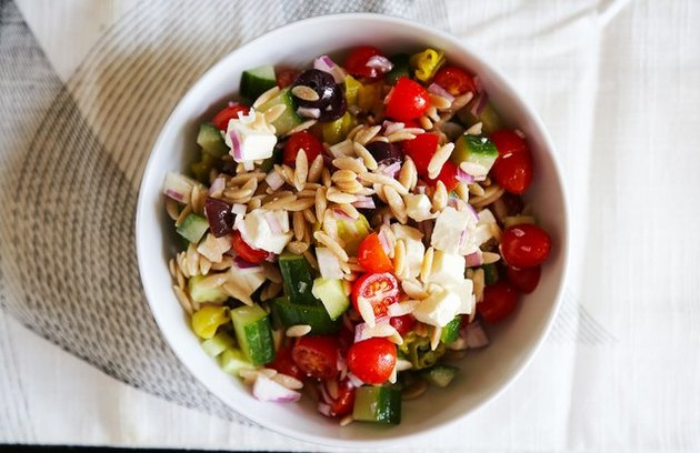 Greek Orzo Salad healthy lunch recipes