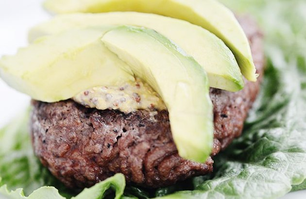 Beef and Avocado Burger healthy red meat recipes