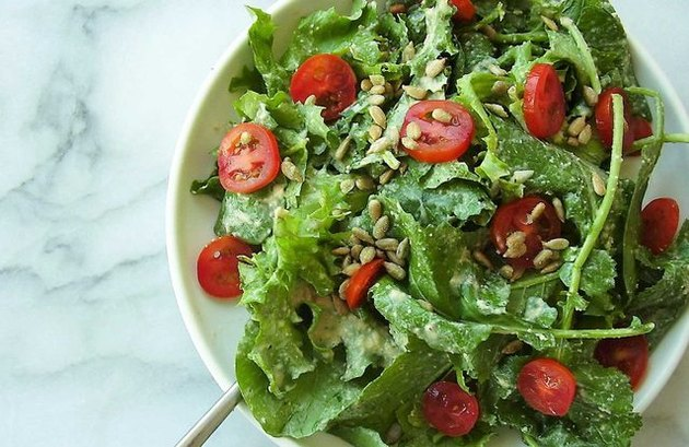 apple cider vinegar recipes  Caesar-Style Kale Salad
