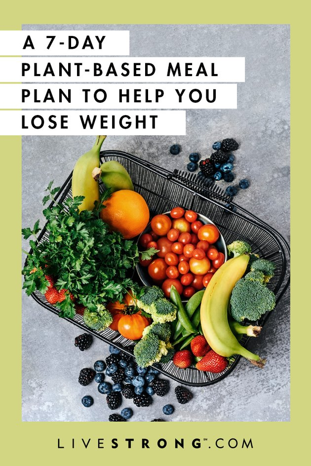 7-day plant-based meal plant to lose weight graphic