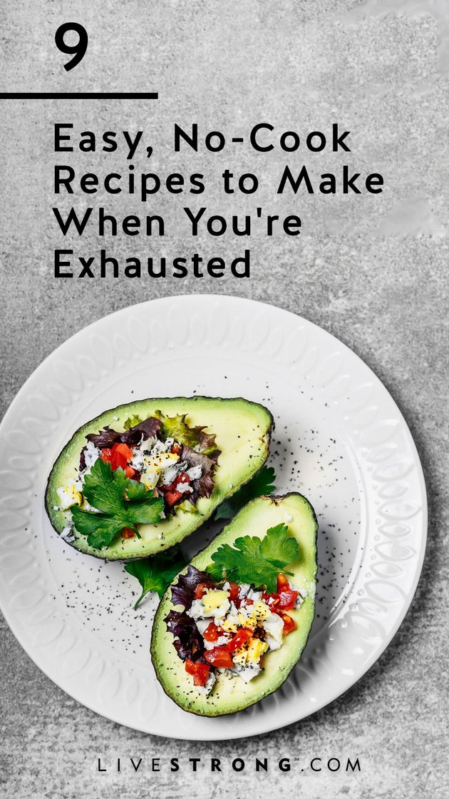 Easy, no-cook recipes to make when you're exhausted graphic