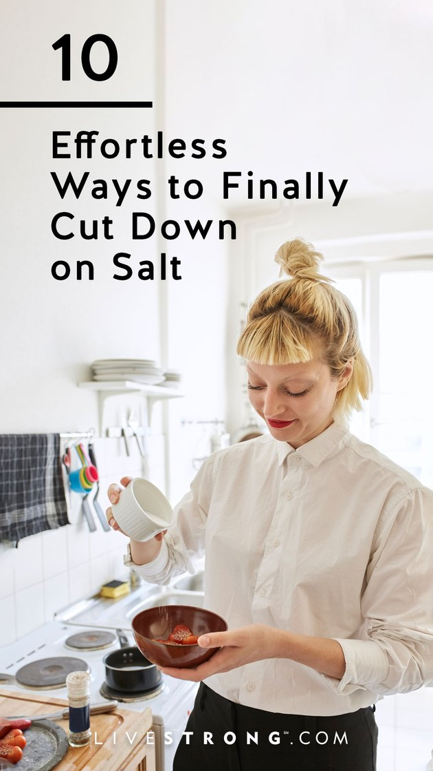 Effortless ways to cut down on salt graphic