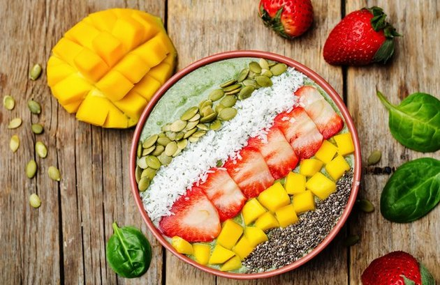 vegetable smoothie recipes Blue Morning Smoothie Bowl