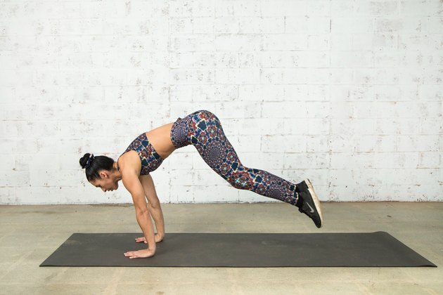 Vanessa Villegas demonstrates how to do a burpee
