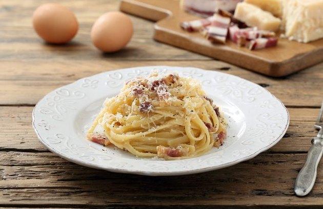 Whole Grain Pasta Carbonara 300 Calorie Pasta Recipe