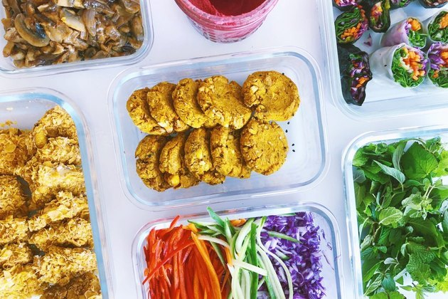 Food meal prep in containers