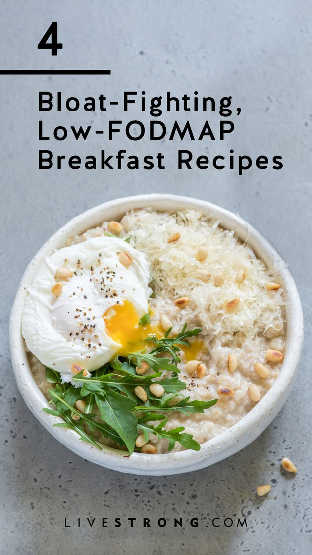 4 bloat-fighting low-FODMAP breakfast recipes graphic
