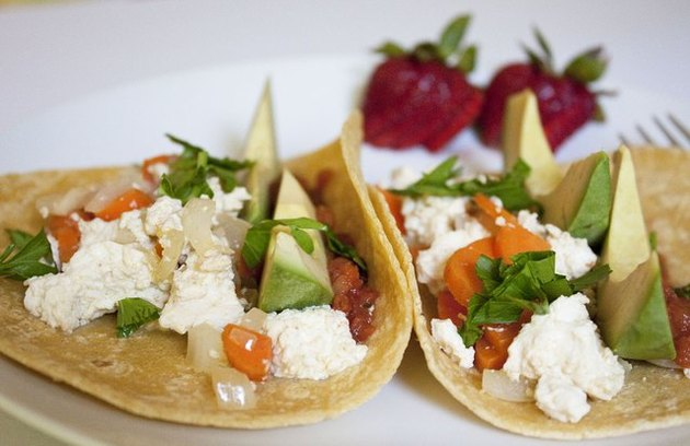 Vegetarian Breakfast Tacos breakfast taco recipe.