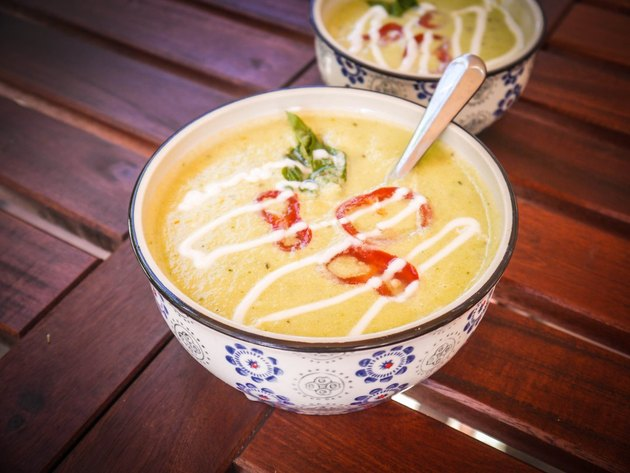 Zucchini Basil and Bell Pepper Soup cold soup recipes