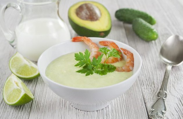 Avocado Soup With Shrimp cold soup recipes