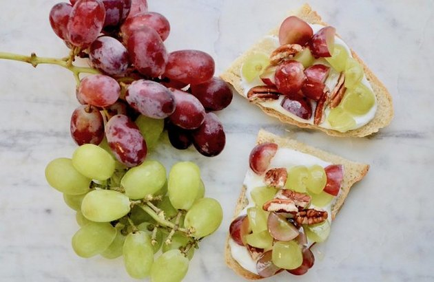 Grape Bruschetta fall breakfast recipe.