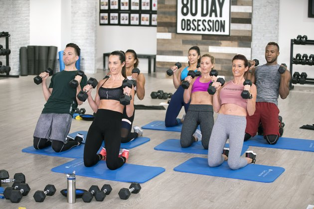 Beachbody trainer Autumn Calabrese leads her team through an 80 Day Obsession workout