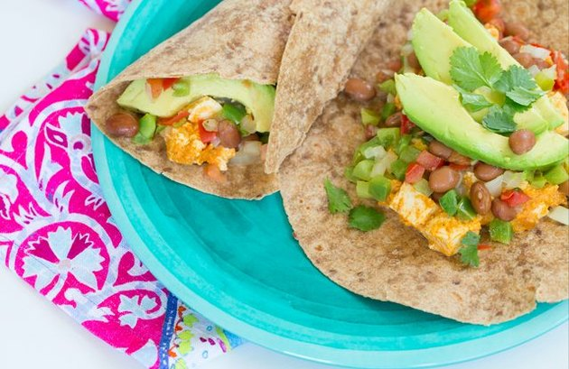 Spicy Breakfast Burrito high fiber breakfast recipes