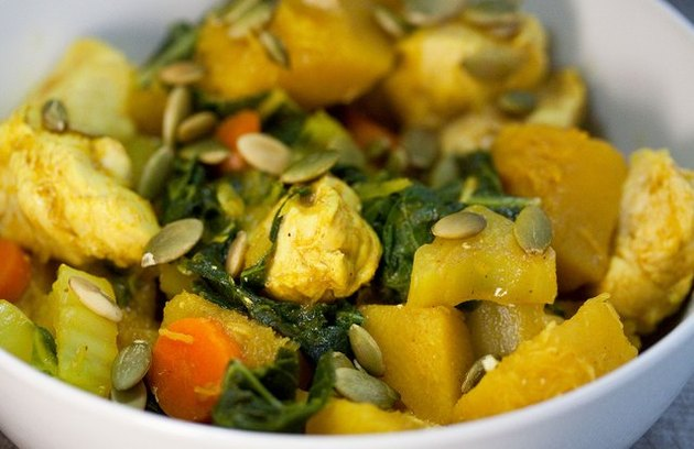 Curried Chicken and Acorn Squash Pumpkin Seeds Recipe