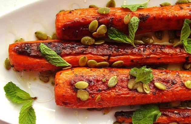 Roasted Carrots with Pumpkin Seeds pumpkin seed recipes