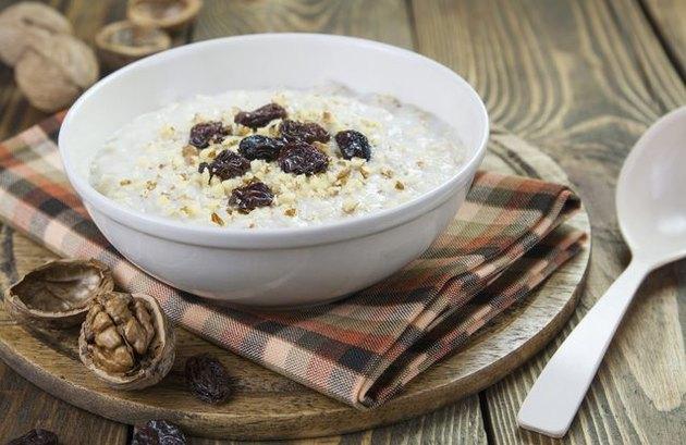 PB Protein Oatmeal with Raisins