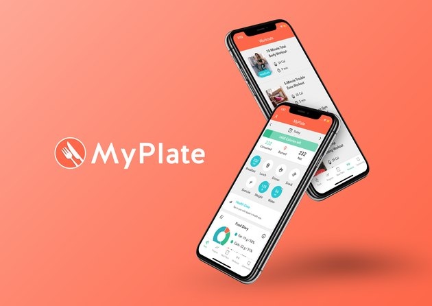MyPlate logo and phones
