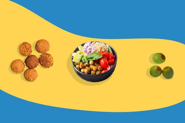 Concept illustration of Mediterranean diet foods