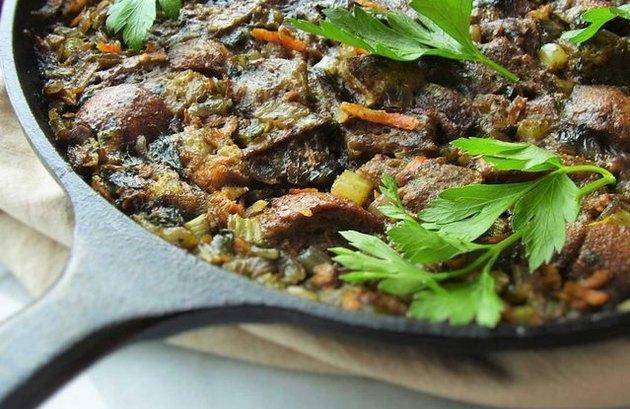 Vegetarian Skillet Stuffing Vegetarian Thanksgiving Recipes