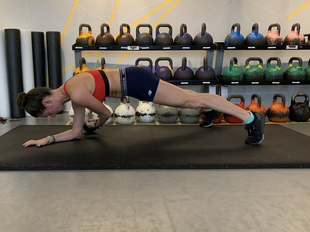 How to Do the Kettlebell Drag Plank Variation