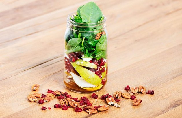 Pear and Cranberry Mason Jar Salad cranberry recipes