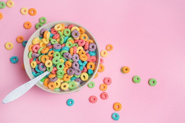 bowl of sugary cereal