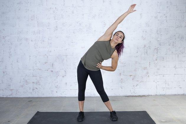 Jordan Shalhoub Doing a Side Bend Stretch