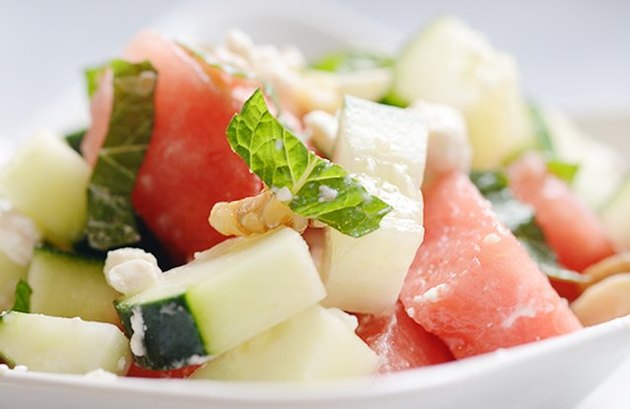 Watermelon and Cucumber Salad With Feta and Mint watermelon recipes