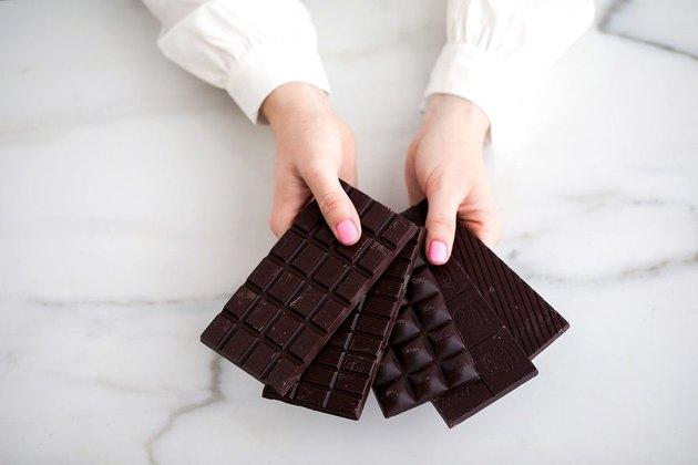 dark chocolate Hanukkah gelt