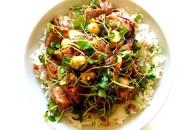 Steak and Macadamia Poke