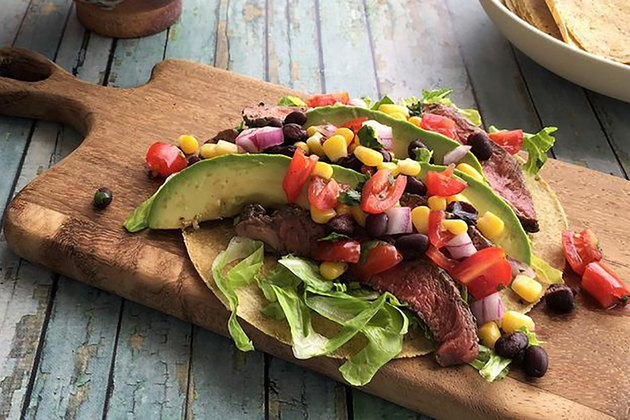 Grass-Fed Steak Tacos with Cowgirl Salsa