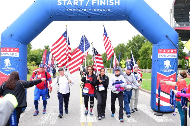 Runners on the Wounded Warriors Carry Forward 5K course
