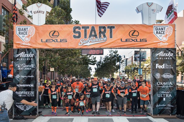 Runners at the starting line for The Giant Race