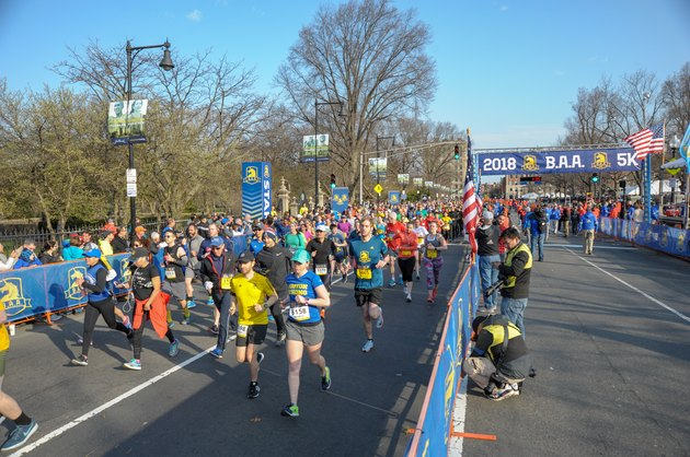 Runners on the Boston Athletics Association 5K course