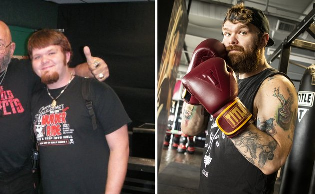 Justin Simpson before and after long term weight loss success