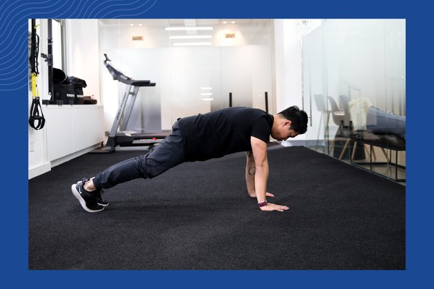 Plank hold demonstration of proper form