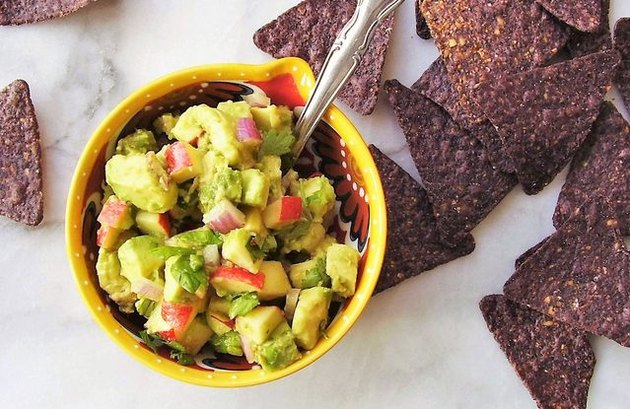 Autumn Apple and Avocado Guacamole