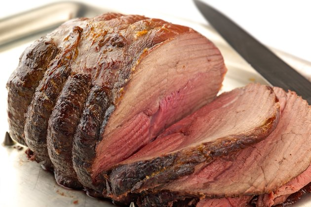 A slow cooker sirloin tip roast