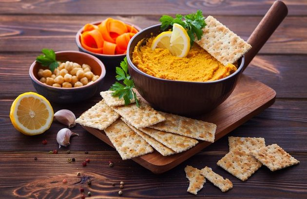 healthy snacks for low blood sugar Roasted Carrot Hummus