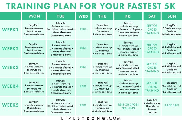 Training Plan for Your Fastest 5k