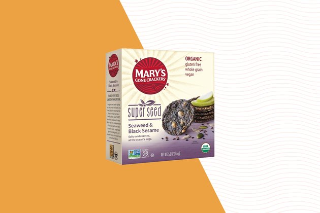 Mary's Gone Crackers Superseed Seaweed and Black Sesame Crackers