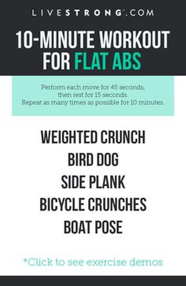 10-Minute At-Home Workout for Flat Abs